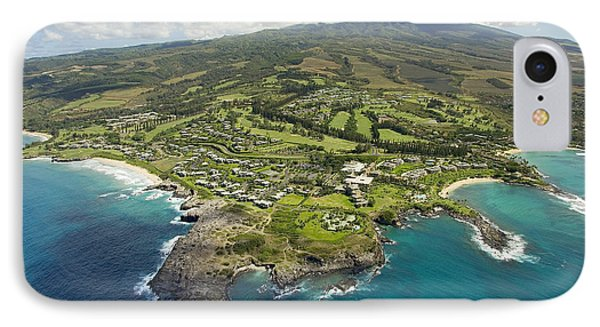 Maui Aerial Of Kapalua Phone Case by Ron Dahlquist - Printscapes
