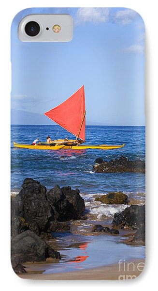 Maui Sailing Canoe Phone Case by Ron Dahlquist - Printscapes