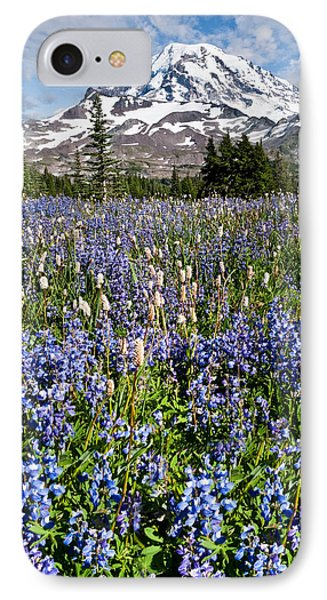 Meadow Of Lupine Near Mount Rainier IPhone Case