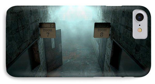 Mental Asylum Haunted IPhone Case by Allan Swart