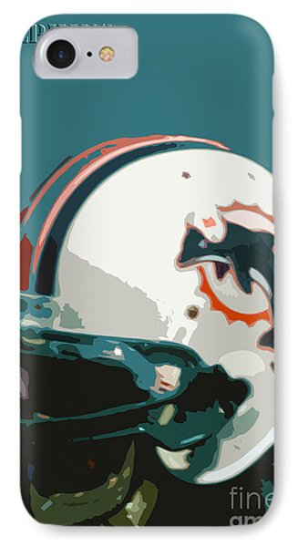 Miami Dolphins Football Team IPhone Case by Pablo Franchi