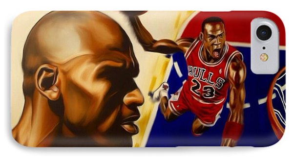 Michael Jordan Phone Case by Darryl Matthews