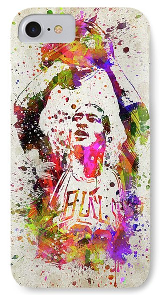 Michael Jordan In Color IPhone 7 Case by Aged Pixel