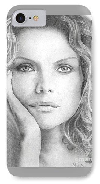 Michelle Pfeiffer IPhone Case by Karen  Townsend