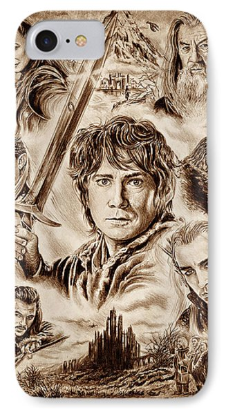 Orlando Bloom iPhone 7 Case - Middle Earth by Andrew Read