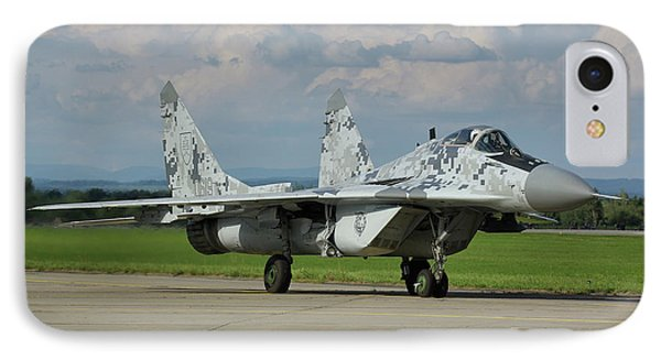 IPhone Case featuring the photograph Mikoyan-gurevich Mig-29as by Tim Beach