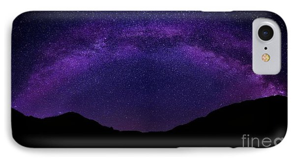 IPhone Case featuring the photograph milky way above the Alps by Hannes Cmarits