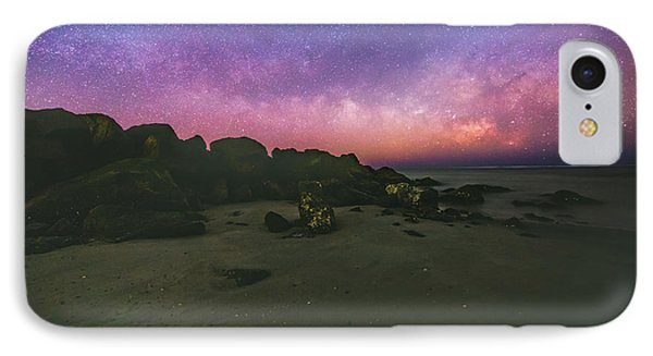 Milky Way Beach IPhone Case by Robert Loe
