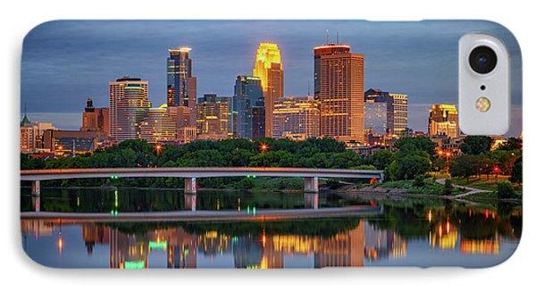 Minneapolis Twilight IPhone Case by Rick Berk