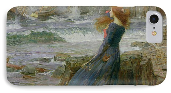 Miranda Phone Case by John William Waterhouse