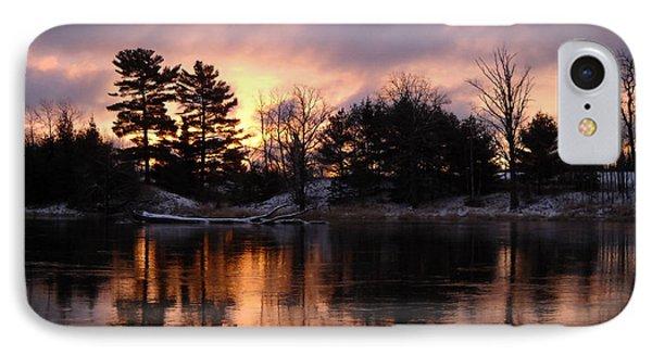 Mississippi River Dawn Light IPhone Case