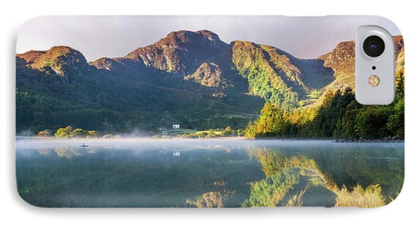 IPhone Case featuring the photograph Misty Dawn Lake by Ian Mitchell