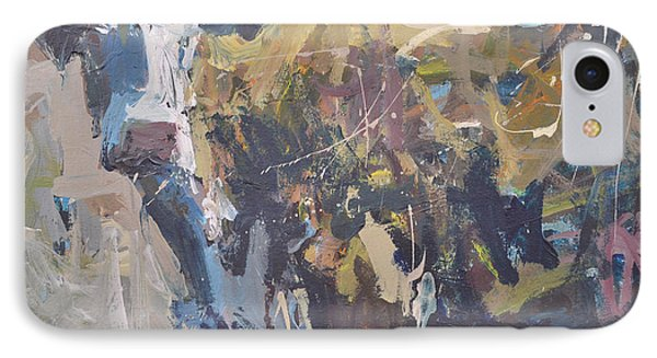 IPhone Case featuring the painting Modern Abstract Cow Painting by Robert Joyner