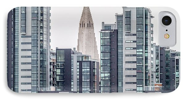 Modern Apartment Buildings Surrounding IPhone Case by Panoramic Images