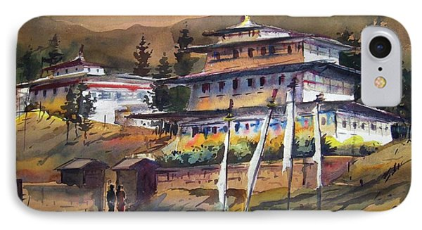 Monastery In Himalaya Mountain IPhone Case by Samiran Sarkstery in Himalaya Mountainar