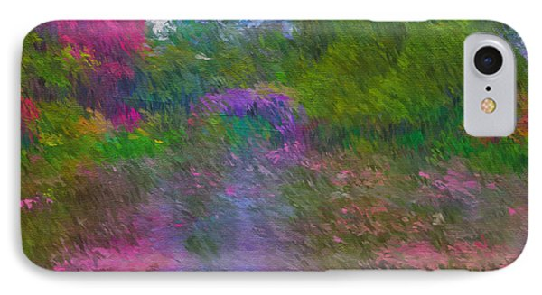 IPhone Case featuring the mixed media Monet's Lily Pond by Jim  Hatch