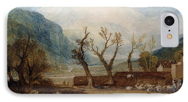 Mont Blanc IPhone Case by Joseph Mallord William Turner