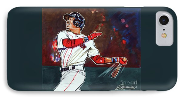 Mookie Betts IPhone Case by Dave Olsen