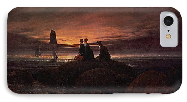 Moon Rising Over The Sea Phone Case by Caspar David Friedrich