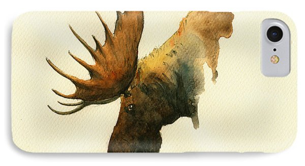 Moose IPhone Case by Juan  Bosco