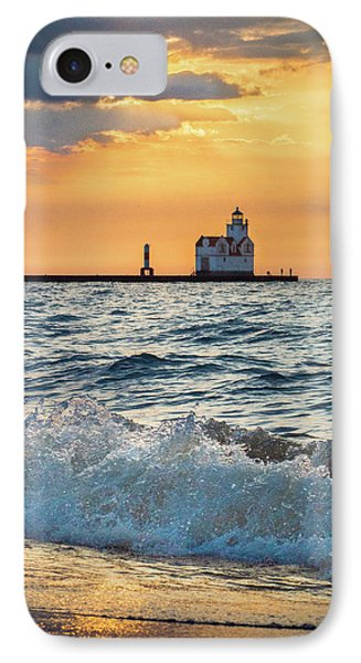 IPhone Case featuring the photograph Morning Dance On The Beach by Bill Pevlor