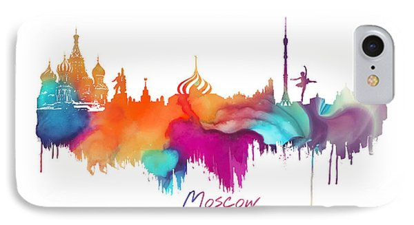 Moscow  IPhone 7 Case by Justyna JBJart