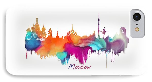 Moscow  IPhone Case by Justyna JBJart