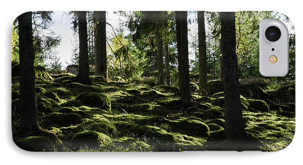 IPhone Case featuring the photograph Mossy Rocks by Kennerth and Birgitta Kullman