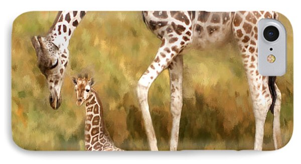 Mother And Child IPhone Case by Jack Zulli