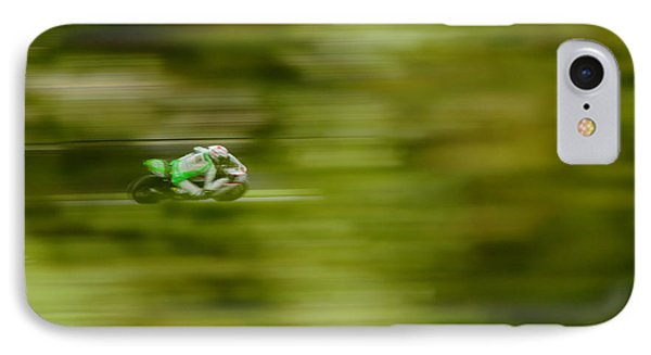 Motorcycle Racing Phone Case by Peter Hatter
