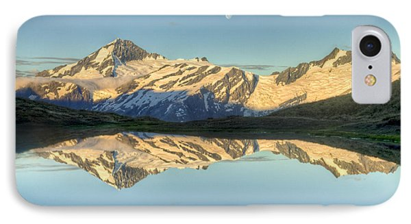 Mount Aspiring Moonrise Over Cascade IPhone Case by Colin Monteath