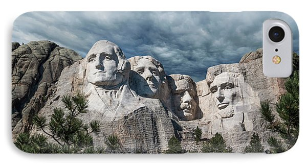 Mount Rushmore II IPhone Case by Tom Mc Nemar