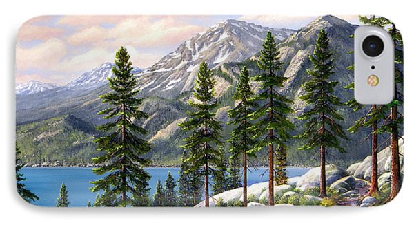 Mountain Trail IPhone Case by Frank Wilson