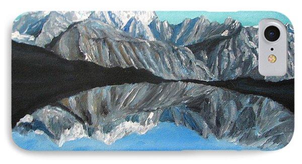 Mountains Landscape Acrylic Painting Phone Case by Natalja Picugina