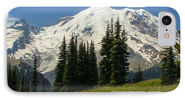 Mt. Rainier Alpine Meadow IPhone Case