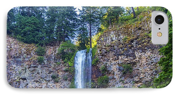 IPhone Case featuring the photograph Multnomah Falls Cliff by Jonny D