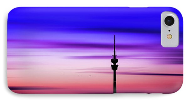 IPhone Case featuring the photograph Munich - Olympiaturm At Sunset by Hannes Cmarits