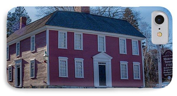 Munroe Tavern 1735, Lexington Massachusetts IPhone Case by Jean-Louis Eck