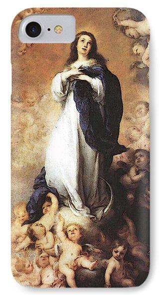 Murillo Immaculate Conception  IPhone Case by Bartolome Esteban Murillo