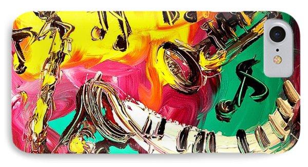 Music Jazz Phone Case by Mark Kazav