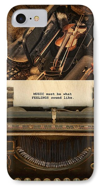 IPhone Case featuring the photograph Music by Robin-Lee Vieira