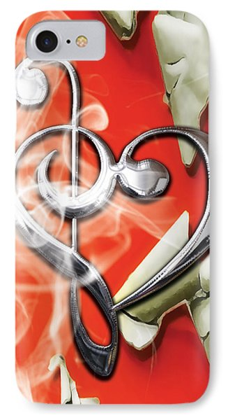 Musical Heart Collection IPhone Case by Marvin Blaine