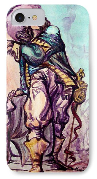 Musketeer Phone Case by Kevin Middleton