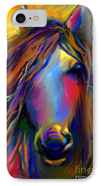 Mustang Horse Painting IPhone Case by Svetlana Novikova