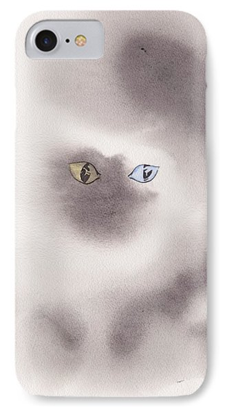 IPhone Case featuring the painting Mysty Cat by Marc Philippe Joly