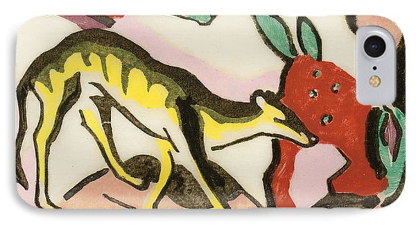 Mythical Animal IPhone Case by Franz Marc