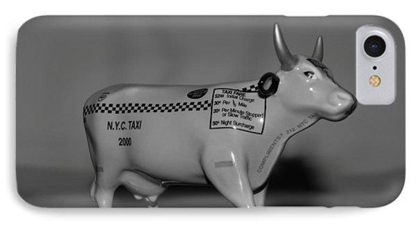 N Y C Taxi Cow Phone Case by Rob Hans