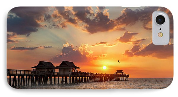 IPhone Case featuring the photograph Naples Pier At Sunset by Brian Jannsen