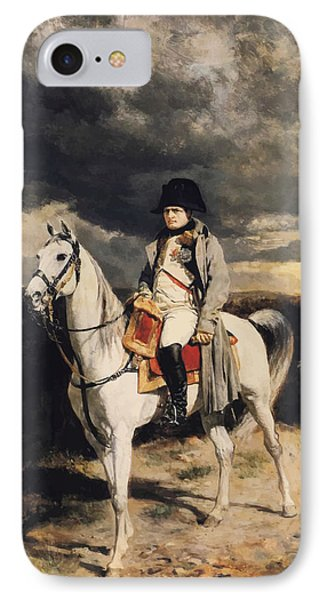Napoleon Bonaparte On Horseback IPhone Case by War Is Hell Store