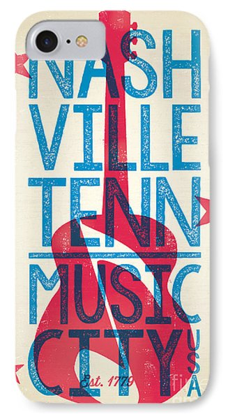 Nashville Tennessee Poster IPhone Case